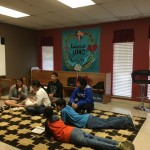 Lounging in Youth Sr. High Room